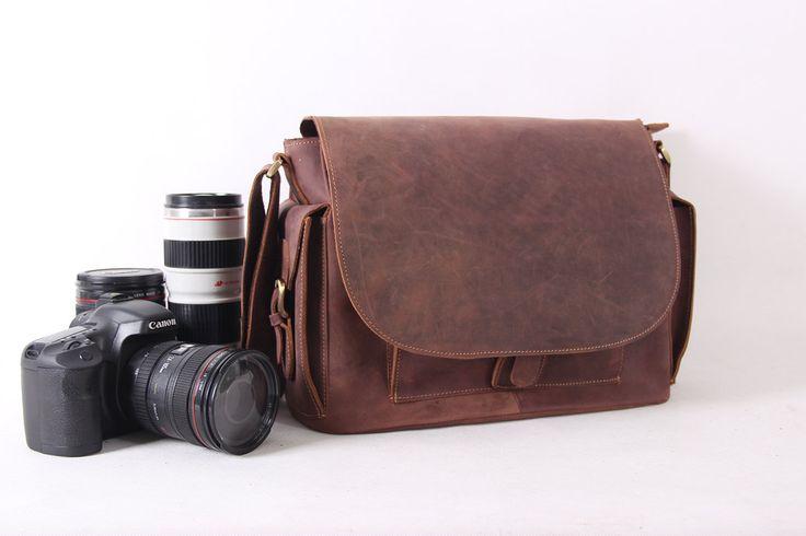 Handcrafted Genuine Leather DSLR Camera Bag / by MilanStudio, $109.00