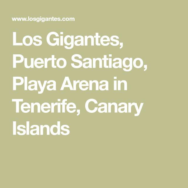Los Gigantes, Puerto Santiago, Playa Arena in Tenerife, Canary Islands