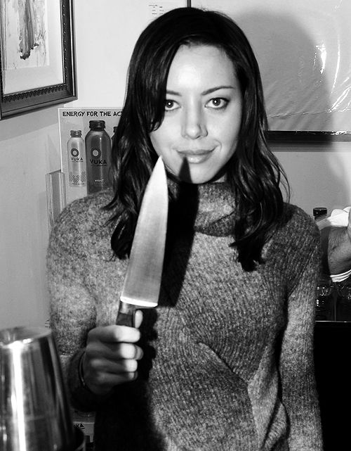 #AubreyPlaza. met her cousin at a party once. the whole time i wanted to tell her how much she looked like aubrey.