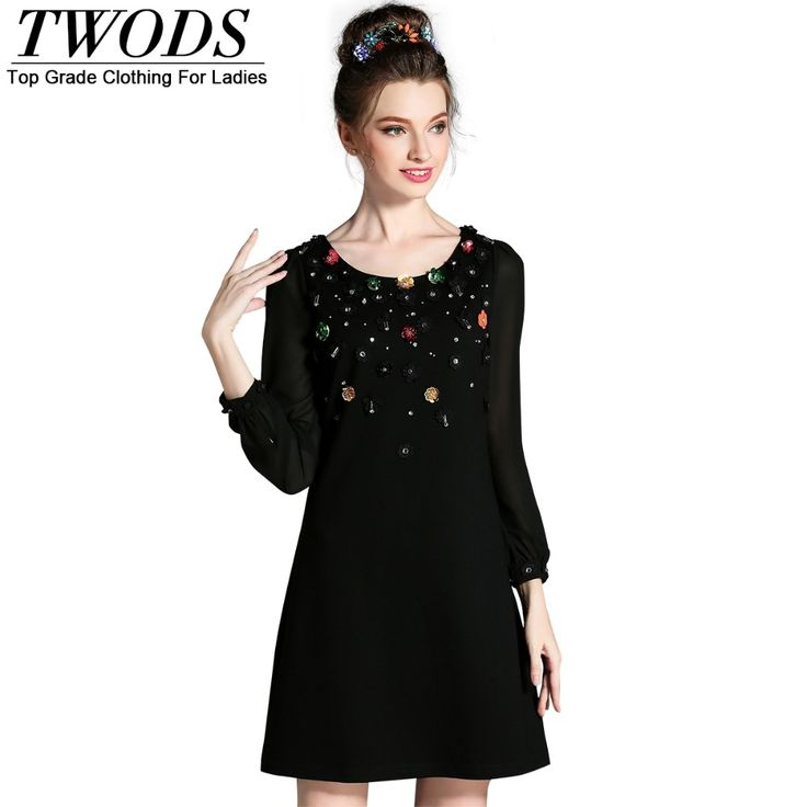 L- 5XL Elegant Beading Little Black Mini Dress Big Size Long Sleeve O neck Autumn Short Top Quality Like and Share if you agree! http://www.artifashion.net/product/l-5xl-elegant-beading-little-black-mini-dress-big-size-long-sleeve-o-neck-autumn-short-top-quality/ #shop #beauty #Woman's fashion #Products