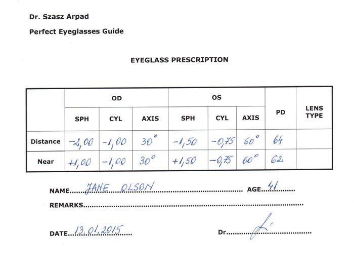 Eyeglass Prescription Understand All The Parameters Prescription Eyeglasses Eye Prescription Prescription