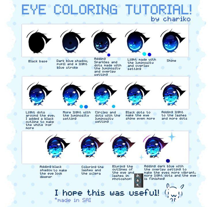 Eye coloring tutorial by CHARIKO on DeviantArt