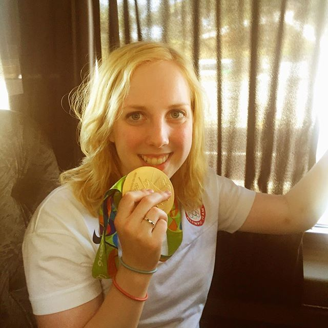 08.06.16 The first GoldMedal of the Rio Olympics belongs to @usashooting's Ginny Thrasher!! #Rio2016