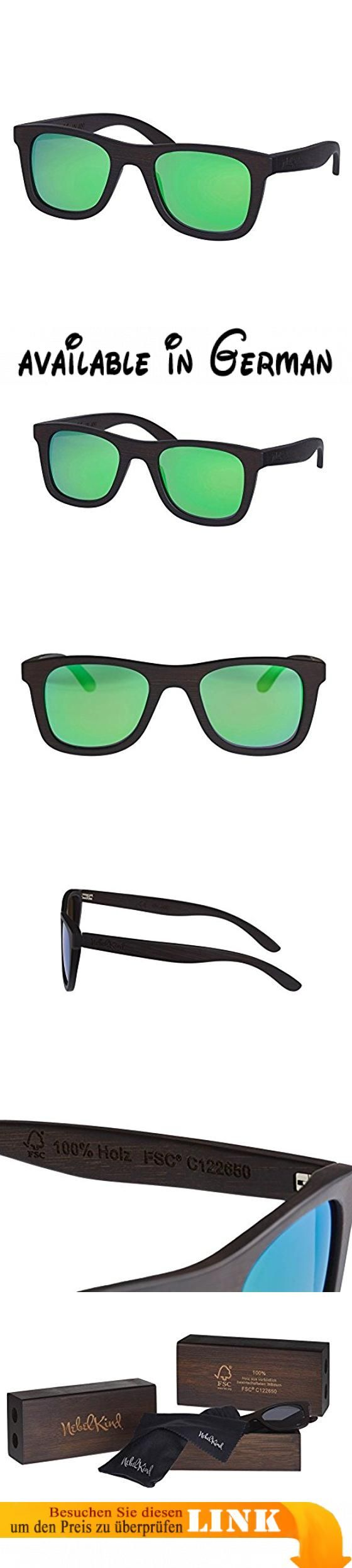 Nebelkind Holz Sonnenbrille Bamboobastic Dunkelbraun aus Bambus (grün verspiegelt) FSC®-zertifiziert unisex. ✅ Rahmen und Etui aus 100% Bambus / inkl. Tasche und Putztuch / hochwertige Verarbeitung. ✅ FSC®-zertifiziert C122650, TUEV-COC-000581-054. ✅ schwimmt im Wasser / polarisierte Gläser mit UV400 Schutz / für Damen und Herren. ✅ für Damen und Herren unisex. ✅ Filterkategorie Cat. 3 #Apparel #EYEWEAR