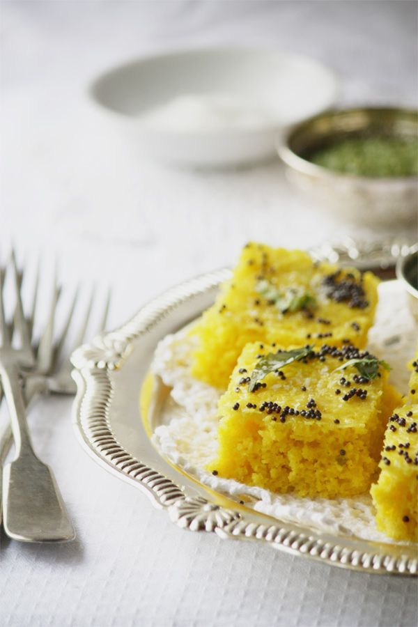 Traditional Rawa Khaman Dhokla – Steamed Savoury Indian Lentil Cake | Cook Republic ( use soy yogurt)