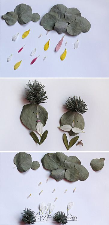 Play with leaves: