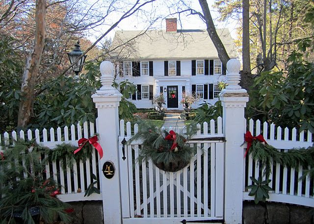 new england   This is the perfect amount of Christmas decor for this beautiful home