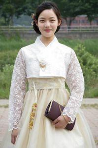 한복 Hanbok : Korean traditional clothes[dress] | Hanbok Lace Wedding Dress