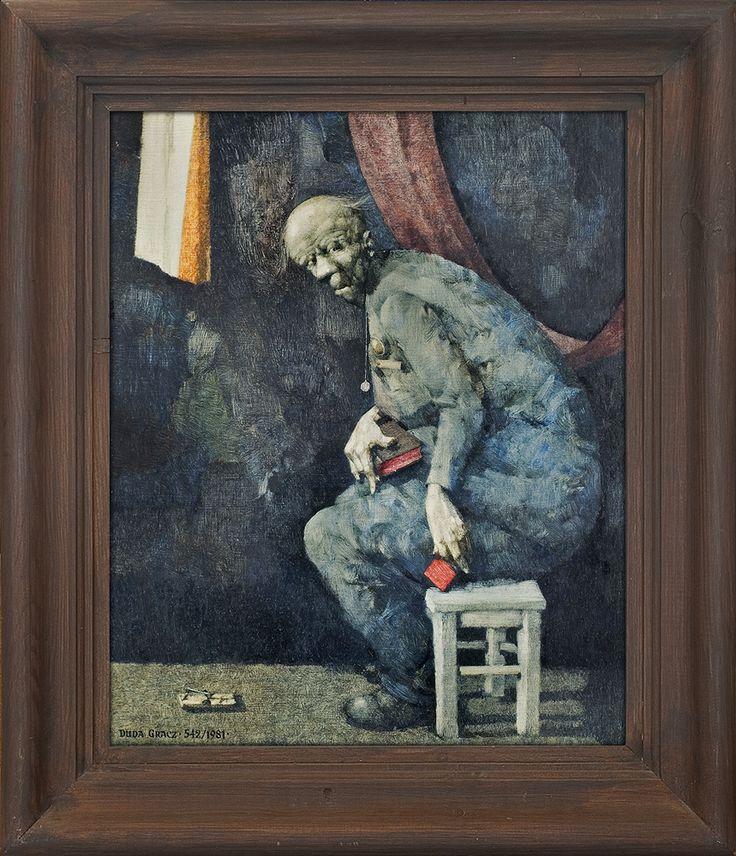 Jerzy Duda Gracz   MOTYW POLSKI (METAMORFOZA), 1981   olej, płyta pilśniowa   48.5 x 39.5 cm