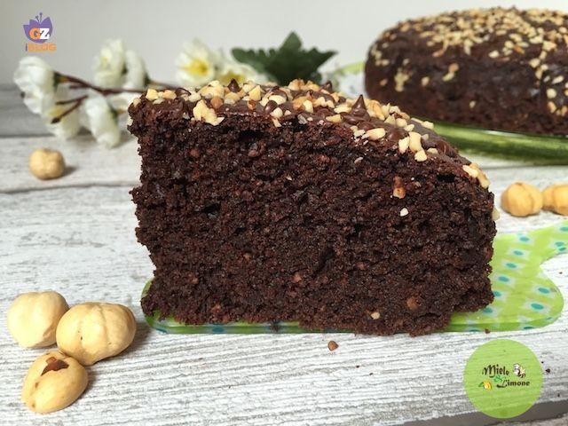 torta vegan cioccolato fetta