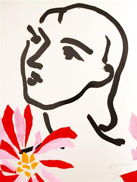 Henri Matisse | Graphic Work 1950′s Karolina York Print Detail 26669 FLO ® F O-12