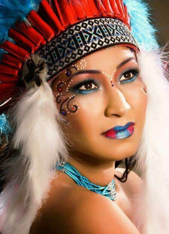 die besten 25 indianer schminken ideen auf pinterest fasching schminken indianer karneval. Black Bedroom Furniture Sets. Home Design Ideas