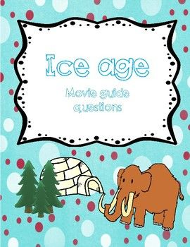 Ice Age includes: Fun movie questions and activities about the movie. Buy the document and choose the ativities you want to use #iceage #ice #age #moviequestions #movie #questions