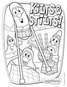 veggietales pr coloring sheets - Free Veggie Tales Coloring Pages 2