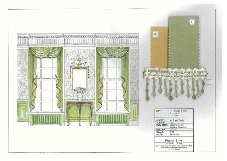 Geoargian drawing room window elevation 3508 2481 for Georgian architecture interior design