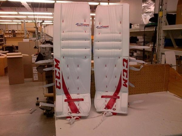 CCM hockey making a comeback in the goal world! Carey Price's new CCM pads for the 2012-2013 season