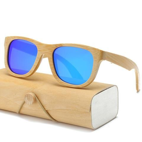 Wood Sunglasses Square With Case Men's Accessories Awesome Summer Natural Wooden Sunglasses Shops Fashion Styles  Website