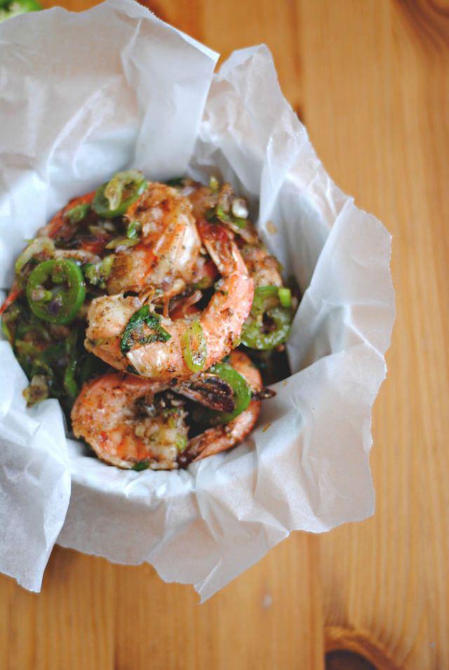 Vietnamese Salt and Pepper Fried Shrimp #recipe from HonestCooking.com