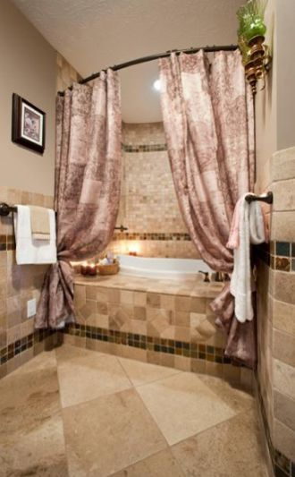 Vandalia, Ohio, hall bath with jacuzzi bath by Hurst Total Home.
