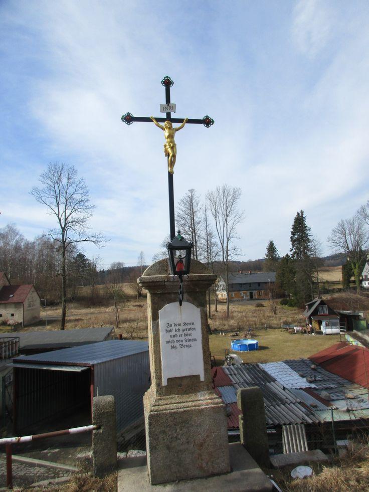 Kříž s Ježíšem - Lipová - Ústecký kraj