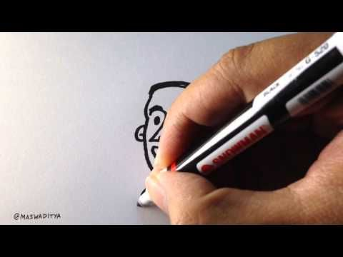 How to Draw Wolf's Head in 30 Sec - Cara Menggambar Kepala Serigala - YouTube