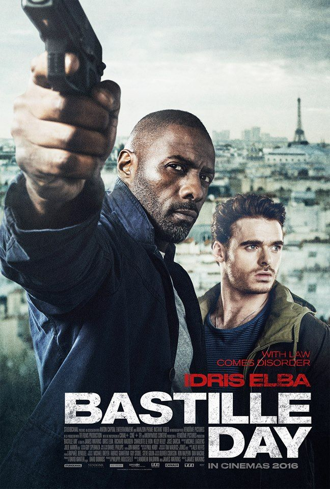 Directed by James Watkins.  With Idris Elba, Richard Madden, Charlotte Le Bon, Kelly Reilly. A young con artist and former CIA agent embark on an anti-terrorist mission in France.