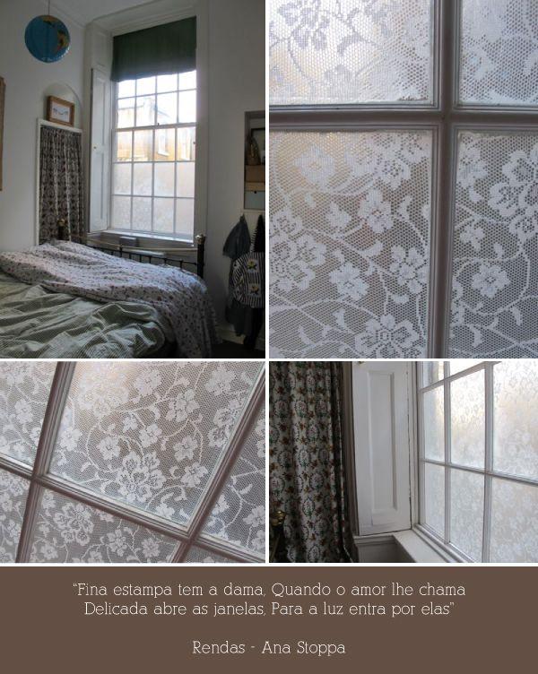 Renda na decoração: Uma janela toda linda: Janela De, Ems Casa, Colar Renda, Cortinas De Renda, Organização, Decoração Simple, Uma Janela, Janela Toda, Casa Nova