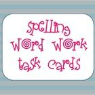This is a set of 12 task cards to use during spelling or word work time.  ...
