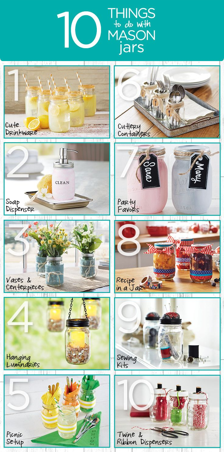 Need some fun ideas for transforming a basic mason jar? Create a sewing kit container, a soap container, or even a hanging luminary. Check out our favorite 10 things to do with mason jars. Get everything you need to make these projects at your local Michaels store.