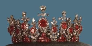 Ashraf Pahlavi's Tiara of Rubies andDiamonds by jacqueline