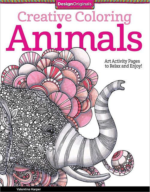 DESIGN ORIGINALS BOOKS Creative Coloring Animals Printed On High Quality Extra Thick Paper That