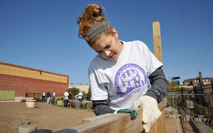 Thousands of volunteers at more than 140 sites helped to make the 2013 Make A Difference Day one of the largest in SLU history. #MADD The Basketball #Billikens helped with cleaning, gardening and painting.: Billikens Helped, Slu History, 140 Sites, Make A Difference, Sites Helped, Painting, Basketball Billikens