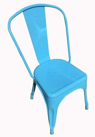 Light Blue Replica Tolix Chair High Back (PERTH ONLY)