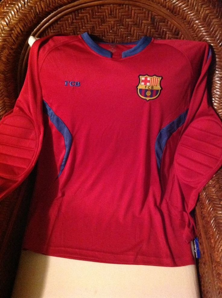 FC Barcelona Soccer Goalkeeper Long Sleeve Jersey New With Tags Size M Mens in Sporting Goods, Team Sports, Soccer | eBay
