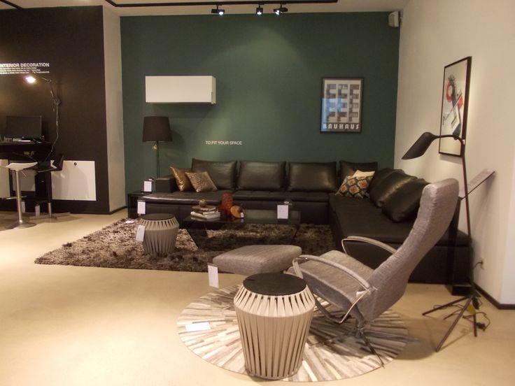 BoConcept Mezzo sofa, Wing chair, and Valencia side table  Design