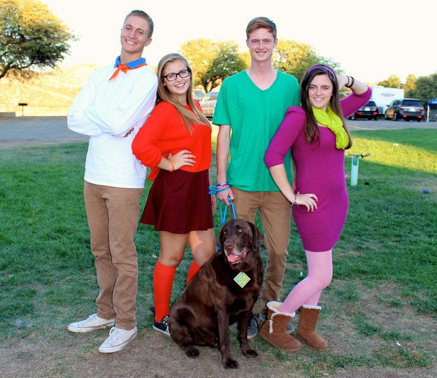Scooby Doo Gang | 32 Ridiculously Clever Group Halloween Costumes