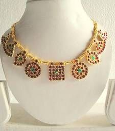Buy BEAUTIFUL UNIQUE TEMPLE JEWEL SET necklace-set online