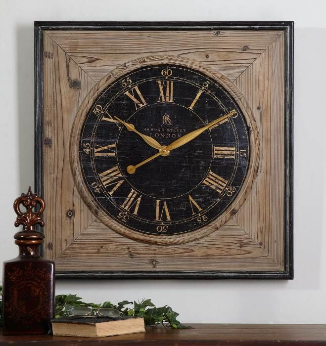 Uttermost 27 Quot Square Wood Wall Clock This Clock Has A