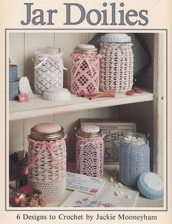 Jar Doilies Crochet Patterns  6 Thread Crochet by PaperButtercup, $12.00