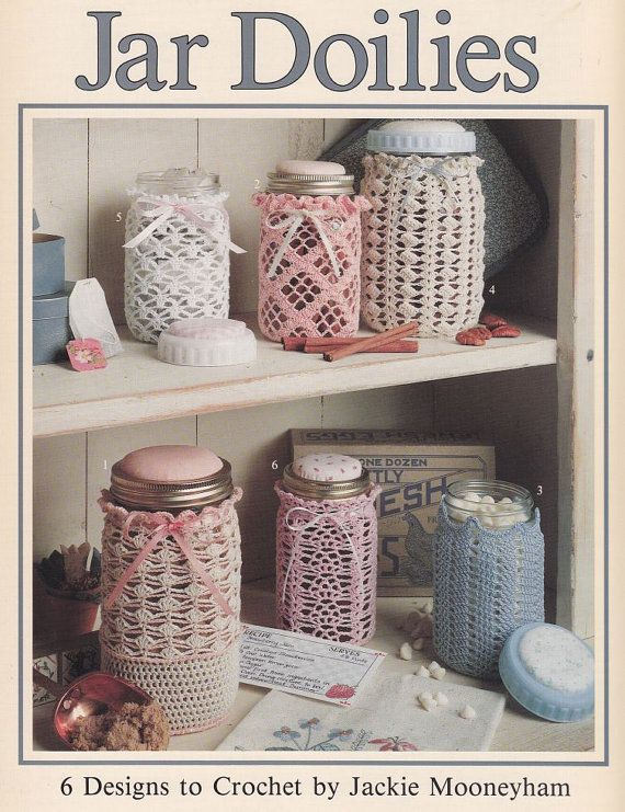 Jar Doilies Crochet Patterns  6 Thread Crochet by PaperButtercup, $12.00