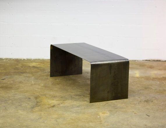 Steel Bent Coffee Occasional Table by KiddEppsArtShop on Etsy