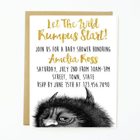 47 best Baby Shower images on Pinterest Wild things The wild