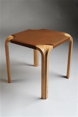 Stool, designed by Alvar Aalto for Artek, Finland. 1950's.
