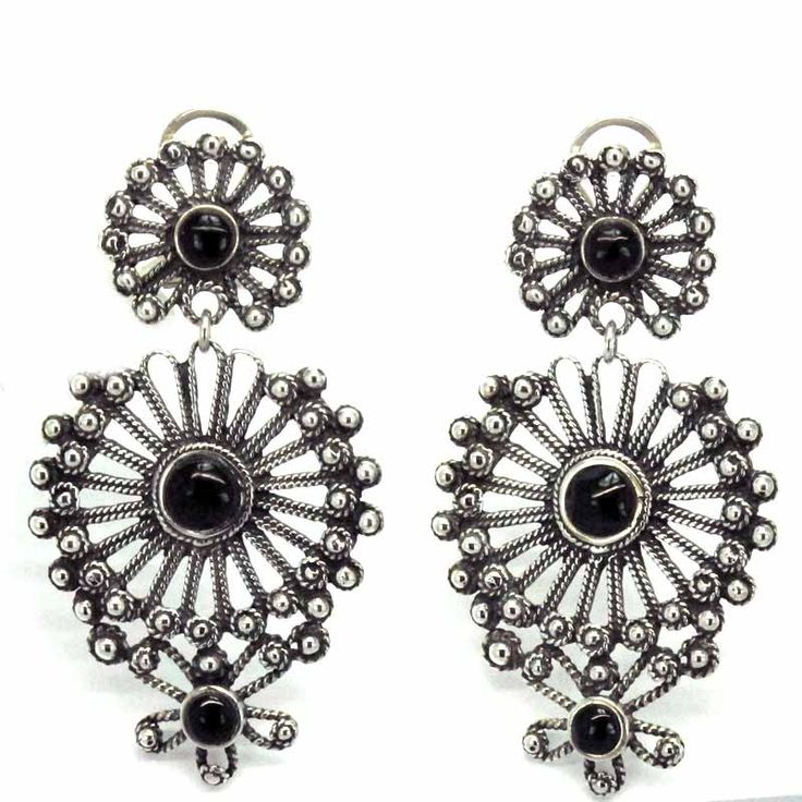 Earrings Traditional Galician. Made in silver 925 following traditional methods. Made in Spain. Tax-free