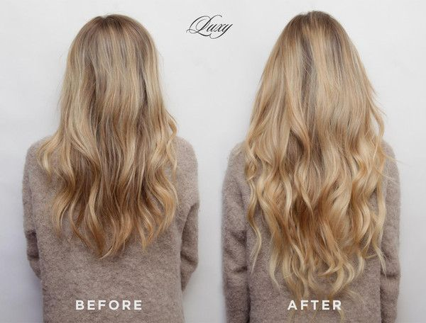 25 beautiful wedding hair extensions ideas on pinterest long before and after bleach blonde luxy hair extensions pmusecretfo Choice Image