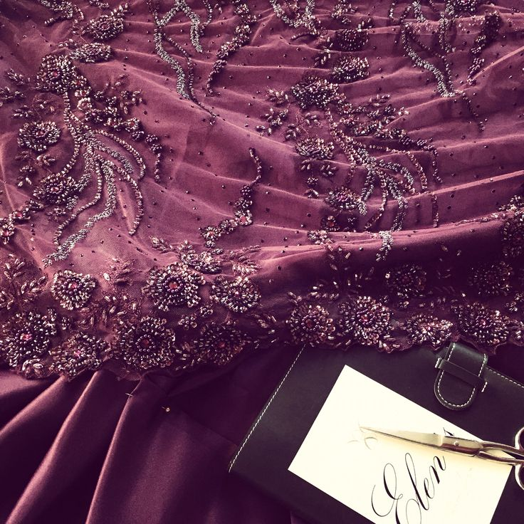 In the #elensatelier #violet #glamour #gown #new #collection #embroidery