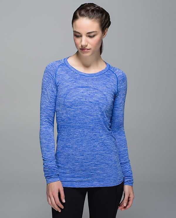 space dye heathered harbour blue LS swiftly size 6