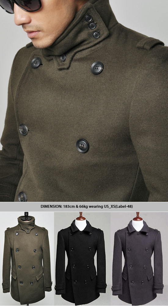 Outerwear :: Coats :: European Military High-neck Peacoat-Coat 26 ...