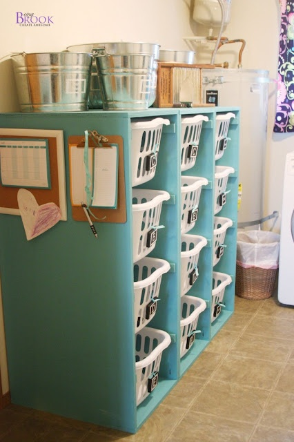 Laundry Basket Dresser (great for holding FABRIC or Scraps or STUFF)