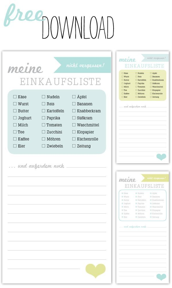 So macht Einkaufen Spaß - downloadable shopping lists - great for learning basic shopping vocabulary - and integrating German into your everyday life!